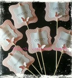 Segnaconfetti in rosa per un battesimo Party Co, Baby Party, Party Time, Baby Crafts, Diy And Crafts, Gift Box Design, Butterfly Wedding, Chocolate Bouquet, Baby Shower Balloons
