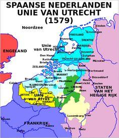 Map Union of Arras and Utrecht - Unie van Utrecht - Wikipedia Utrecht, Rotterdam, Spanish Netherlands, Netherlands Map, Kingdom Of The Netherlands, Art History Major, European History, Dutch Revolt, Holland Map