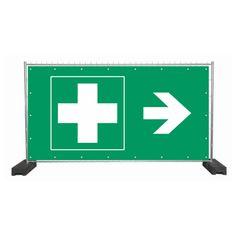Diese Bauzaunplanen können Leben retten ....  werbeplanen-alarm.de/produkt/bauzaunplane-safety-erste-hilfe-rechts/