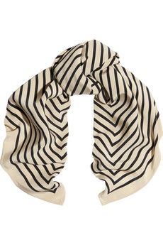 Striped silk-faille scarf by #Toteme #accesories