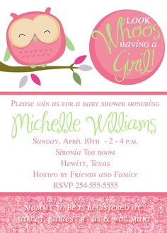 Baby shower Squires Squires Squires Squires Merrill Armit Look who's gonna be a mommy Idee Baby Shower, Owl Shower, Shower Bebe, Shower Party, Baby Shower Games, Baby Shower Parties, Shower Gifts, Baby Showers, Shower Ideas