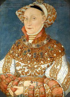 Portrait of Hedwig Jagiellon, Electress of Brandenburg by Hans Krell, ca. 1537 (PD-art/old), Stiftung Preußische Schlösser und Gärten