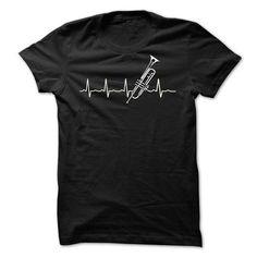 Trumpet heart beat T Shirts, Hoodies, Sweatshirts. CHECK PRICE ==►…