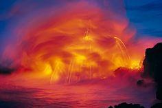 Ocean Fire, Kilauea, The Big Island Hawaii, Peter Lik Peter Lik Photography, Landscape Photography, Nature Photography, Volcano National Park, Ocean Beach, Hawaii Ocean, Big Island, Photos Du, Beautiful World