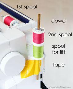DIY : fabriquer deuxième support à bobine pour votre machine à coudre - Blog de Petit Citron