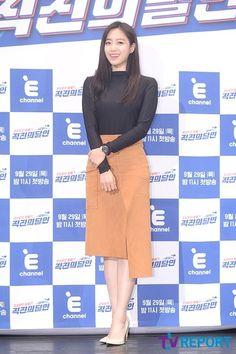 T-ARA ウンジョン&ヒョミン バラエティ番組「直進の達人」制作発表会に出席