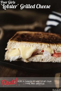Seafood Recipes : Poor Girls Lobster Grilled Cheese Recipe