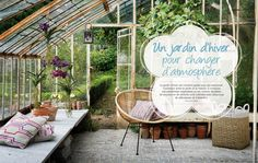 Un jardin d'hiver / Winter garden / Home decoration / Parution presse Slowgarden