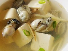 Welfare kitchen: oysters, tofu soup