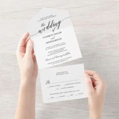 Elegant Black Calligraphy Wedding Seal and Send Invite. Click to customize with your personalized details today. Beige Wedding, Wedding Rsvp, Casual Wedding, Monogram Wedding, Elegant Wedding, Wedding Reception, Wedding Stuff, Rustic Wedding, Wedding Invitation Templates