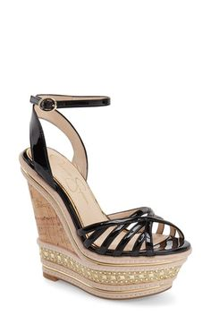 057fa78ea7ccf5 Jessica Simpson  Aimms  Studded Platform Wedge Sandal (Women) Black  Platform Sandals
