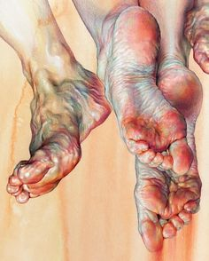 Detail view__Wrinkles, veins and a lifetime#details #drawing #coloredpencil #watercolor #artwork