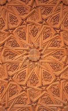 Islamic terracotta wall plaster