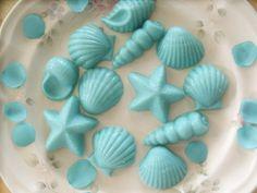 100 Chocolate Beach Seashells  - WEDDING CupCAKE Cake DECORATION  FAVORS  - Treats Birthday Party. $80.00, via Etsy.