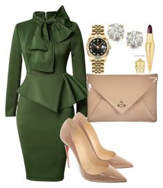 """Untitled #137"" by tjwstyleconsultant on Polyvore featuring Christian Louboutin, Vivienne Westwood, Rolex and Auriya"