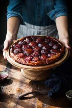 Spiced Wine + Plum Tart Tatin - The Kitchen McCabe