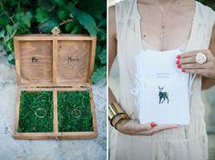 I love that ring-bearer box Deer Wedding, Woodland Wedding, Rustic Wedding, Wedding Trends, Wedding Designs, Wedding Styles, Wedding Blog, Wedding Ideas, Blue White Weddings