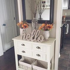 Your #entryway should be all about greeting your guests into your home! We love what @angelasmithxo has done with our Buttermilk #Beadboard #ConsoleTable. The added decorations make it all the more beautiful and welcoming. If you want one for your home click the link in our profile! #myKirklands #countrychic by kirklands