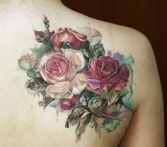 Watercolor flower tattoo *heart eyes*