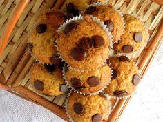Pitadinha: Muffins de banana e chocolate