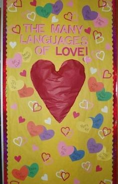 Valentine's Day Door, great for foreign language or ESL classrooms