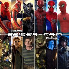 """(@spidey.marvel) på Instagram: """"Which film was your favorite? — Via @q8.comic - - - - - - - - [ #spiderman #spidermanhomecoming…"""""""