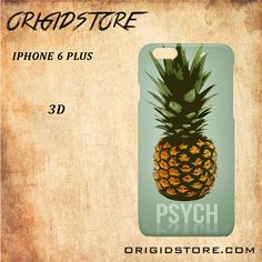 Pineapple Psych Black White Snap On 3D For Iphone 6 Plus Case