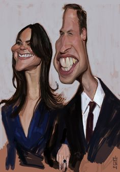 FACES by Alberto Russo Prince William and Princess Kate