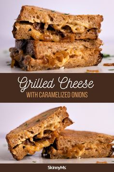 Grilled Cheese With Caramelized Onions Vegan Vegetarian, Vegetarian Recipes, Healthy Dinner Options, Low Calorie Dinners, High Protein Low Carb, Caramelized Onions, Weight Watchers Meals, Slow Cooker Recipes, Sandwiches