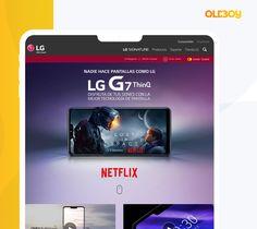 Diseño y desarollo de website para lanzamiento en España de smartphone LG G7 Smartphone, Website, Creative, Innovative Products, Creativity