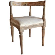 18th Century Swedish Corner Chair with Original Patina | From a unique collection of antique and modern corner chairs at http://www.1stdibs.com/furniture/seating/corner-chairs/