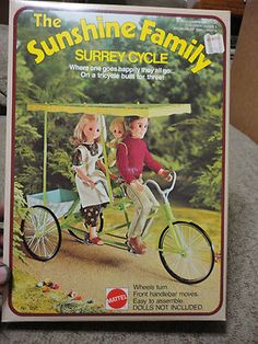 Sunshine Family on their Surrey Cycle. I remember the anticipation I had when saving for this