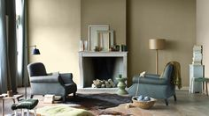 flexa-couleur-locale-energizing-ireland-woonkamer2 energizing dawn en energizing clover