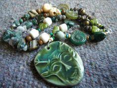 Green Forest Cernunnos Prayer Beads with by UnbelovedsPrayerBead