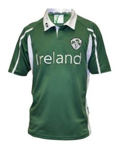 ce914734461 Amazon.com: Ireland Mesh Performance Rugby Jersey: Clothing Irish Rugby,  Sewing Trim