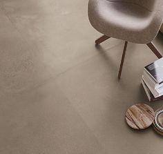 Koncept Taupe 120x120 (MAT) Beton Look Vloer Tegel - Bestel nu! - Afium House Inside, Stool, Chair, Concrete, Ottoman, Flooring, Table, Furniture, Home Decor