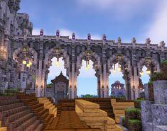 Minecraft Castle Designs, Minecraft Kingdom, Cute Minecraft Houses, Minecraft Room, Minecraft City, Minecraft Plans, Minecraft Survival, Minecraft Construction, Amazing Minecraft