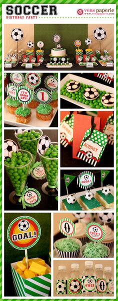 Soccer Birthday Party Package Personalized FULL Collection Set by venspaperie Soccer Birthday Parties, Sports Birthday, Football Parties, Soccer Party Favors, Football Birthday, Birthday Games, Diy Birthday, Birthday Ideas, Kids Sports Party