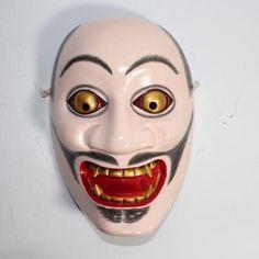 Japanese Kabuki Masks | Japanese Kibato-bide (God Aspect) Noh Kabuki Theatre Mask, Hand Carved ...