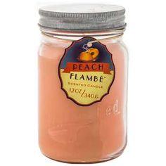 12-Ounce Peach Flambe Jar Candle