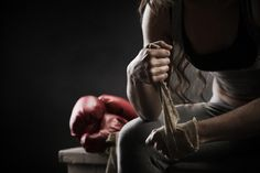 women boxer quotes | Female Boxer Wraps Her Hands