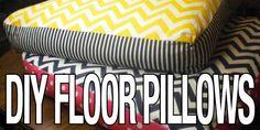 DIY giant chevron floor pillows @ovenlovinblog.com