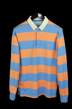 0925e806a655c GANT Mens Long Sleeve Wool Collar Cotton Polo T-Shirt Size L #fashion  #clothing #shoes #accessories #mensclothing #shirts (ebay link)