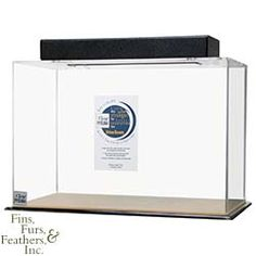 Clear-for-Life Rectangle 55 Gallon Acrylic Aquarium - Made with the highest quality Finest cell cast acrylic, and guarantees by Lifetime Warranty (see warranty card) from leakage due to manufacturer`s workmanship. Clear-for-Life™ Acrylic Aquariums come standard with heater holes, filter slots, light hood or polycarbonate light plate. $319.98 #pet #fish #aquarium
