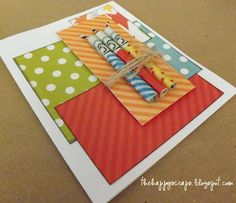 The Happy Scraps: Money Candle Birthday Card