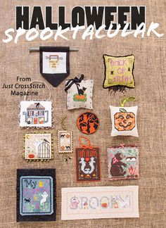 2016 Halloween Ornament Spooktacular from the Sep/Oct 2016 issue of Just CrossStitch Magazine. Order a digital copy here: https://www.anniescatalog.com/detail.html?prod_id=133007