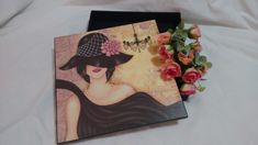 Caixa Multiuso em MDF com decoração vintage
