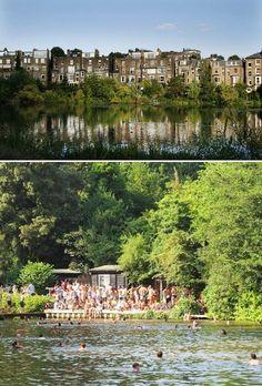 Hampstead Heath bathing ponds - London, England