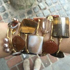 Neutral Bourbon and Boweties Bangles! Free shipping and the Best selection online! www.twocumberland.com