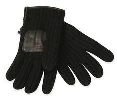 Premium Mens Wool Cashmere Field Gloves - Black
